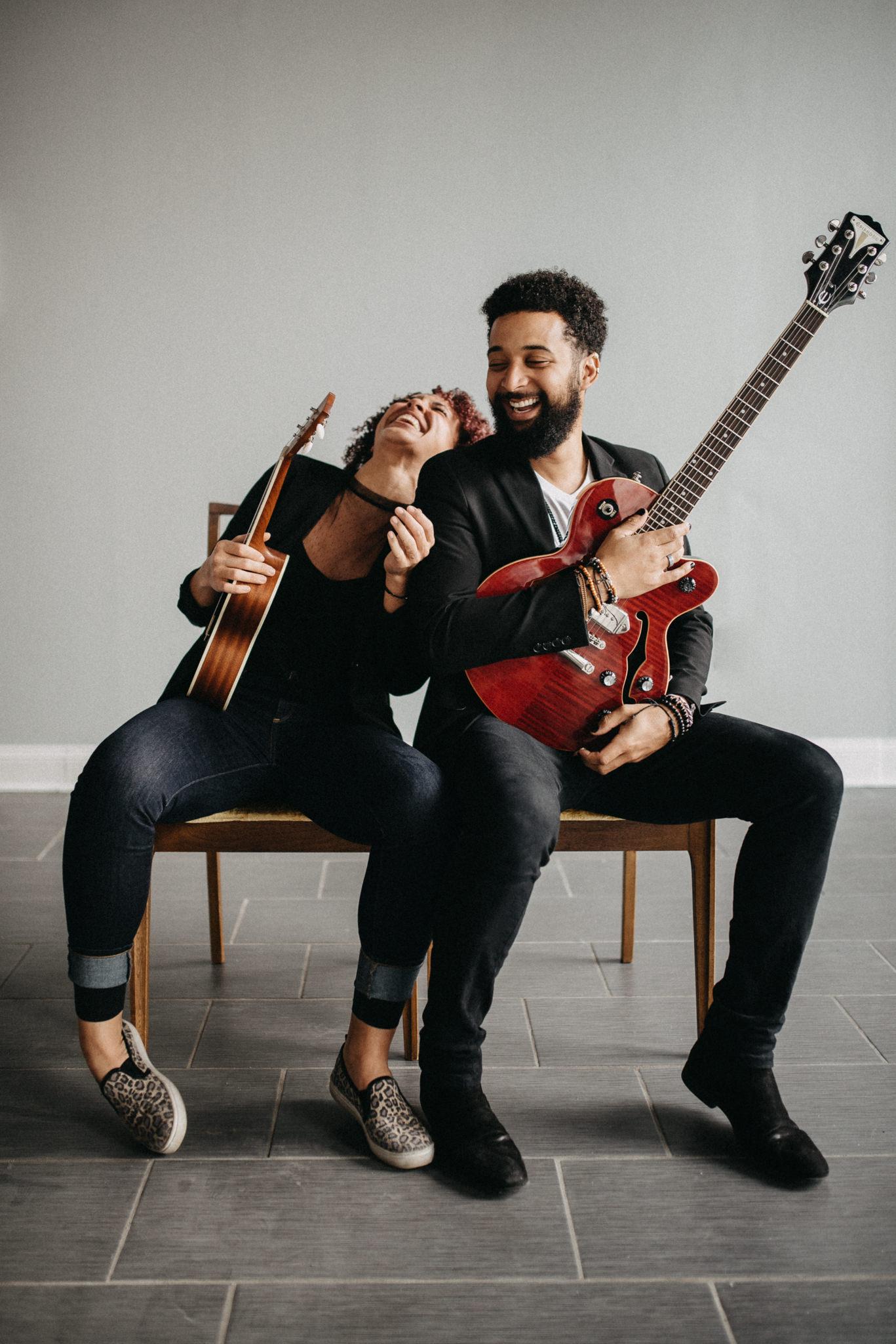 couples session laugh