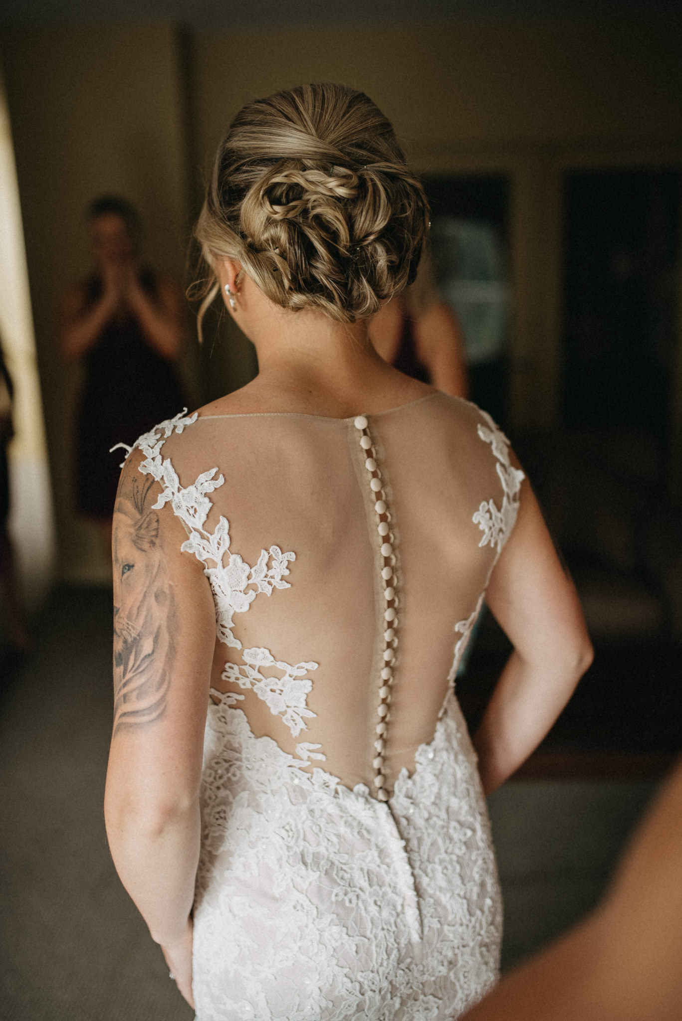 wedding dress open back