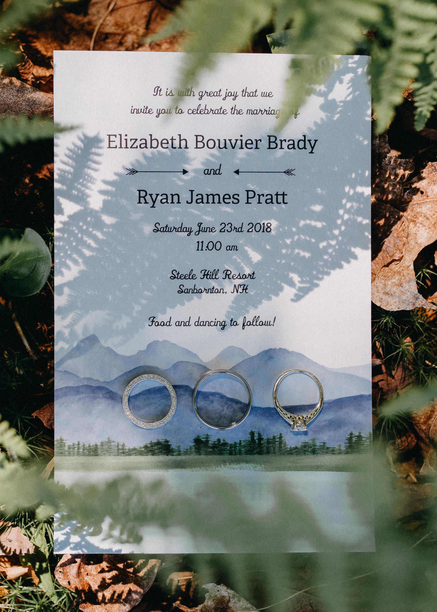 New England wedding invitation