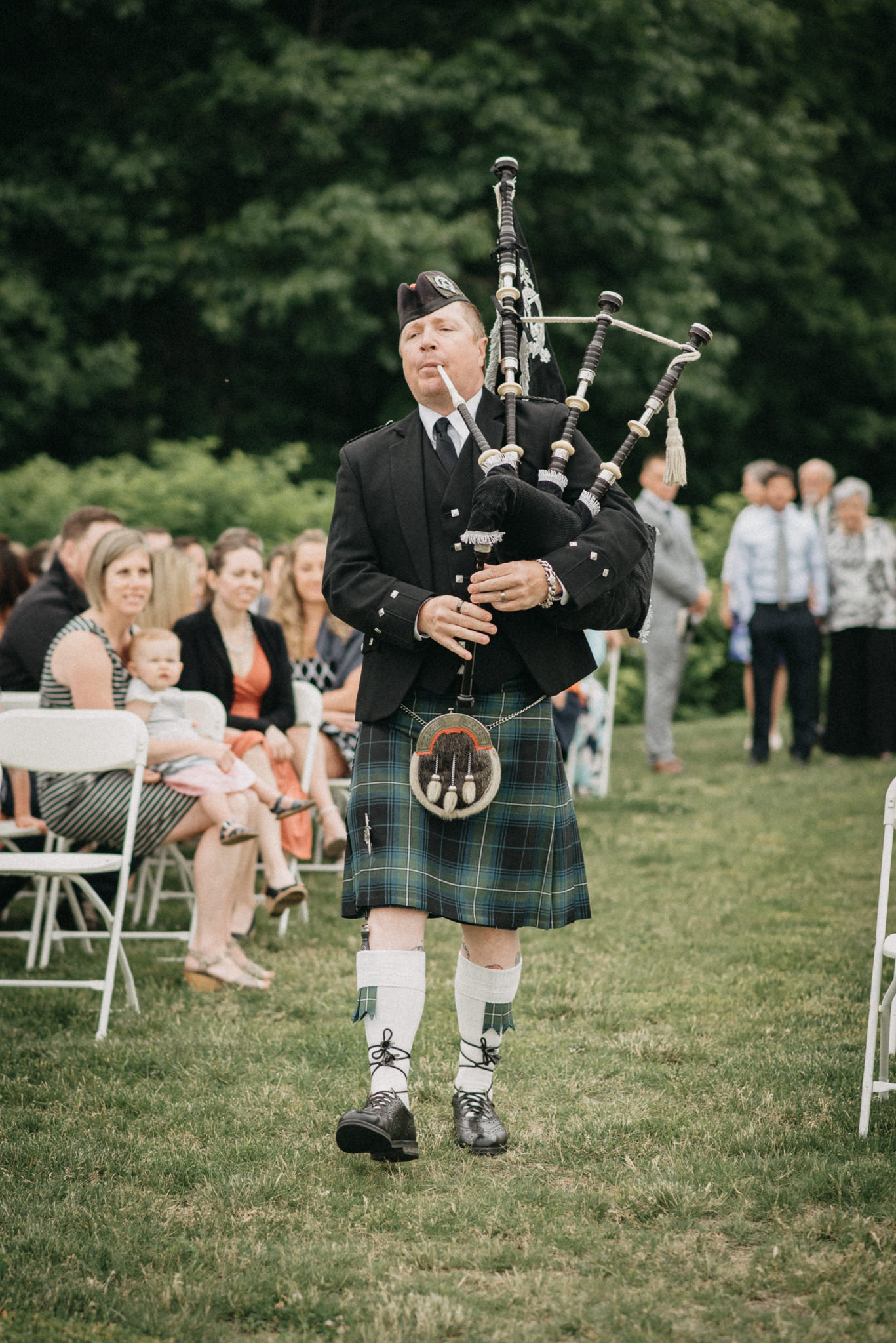 bagpipe wedding procession